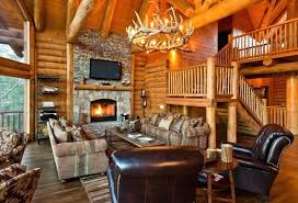 cabin furniture ideas. Rustic Cabin Living Room Furniture Log Antler Lighting Leather Recliners Wooden Interior Ideas
