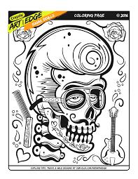 Crayola Color Pages Art With Edge Sugar Skulls Crayola Color Alive