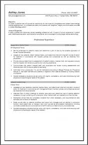 Experienced Nursing Resume Examples – Best Resume Template