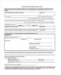 Medical Release Form For Child Fascinating 48 Emergency Release Form Example