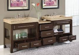bathroom double sink cabinets. Perfect Sink The Bathroom Sink Vanity With Vessel Advantages And Disadvantages U2014  New Way Home Decor Throughout Double Cabinets T