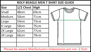 Small T Shirt Size Chart Roly Men Beagle Tee