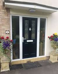 black front door with sidelightsEntrance doors  Front  back doors  North Somerset  Mendip