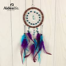 Small Picture Aliexpresscom Buy blue dream catcher feather shapes door