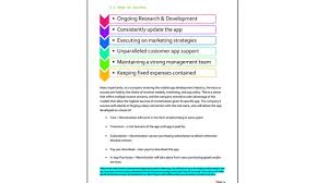 Business Plan App Mobile App Business Plan Sample Example