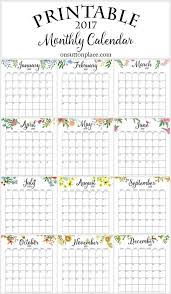 2017 calendars by month 17 free printable 2017 calendars the suburban