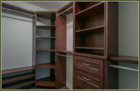image of corner closet shelving unit