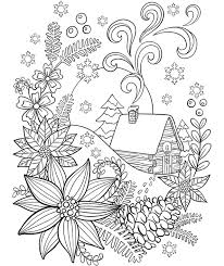 Cabin In The Snow Coloring Page Crayolacom