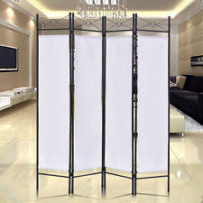 office separator. Foldable 4 Panel Room Divider Screen Privacy Steel Movable Partition Separator Office W
