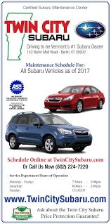 2018 subaru maintenance schedule. exellent maintenance twin city subaru service menu intended 2018 subaru maintenance schedule t