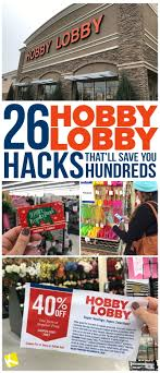Hobby Lobby Pattern Sale Delectable 48 Hobby Lobby Hacks That'll Save You Hundreds The Krazy Coupon Lady