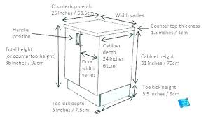 counter sizes standard depth encourage kitchen cabinet height cabinets sizes chart the of many for standard