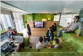 image of google office. Seating At Google Office In Dublin, Image Source: Www.home-designing. Of S