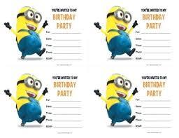 birthday invitations samples minions birthday invitation template how to create minion birthday