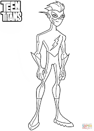 Small Picture Teen Titans Kid Flash coloring page Free Printable Coloring Pages