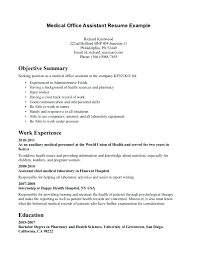 Receptionist Objective For Resume Resume Office Secretary Resume 21