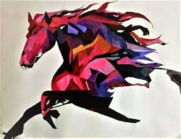 horse abstract painting paintings abstract fine art animals environmental art