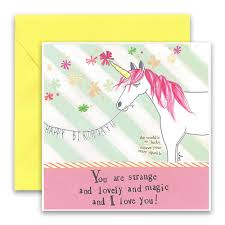 You Are Strange And Lovely Birthday Card