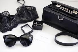 chanel underwear. girl fashion style black luxury bag clothes underwear bra accessories gold chanel rings celine sun glasses d