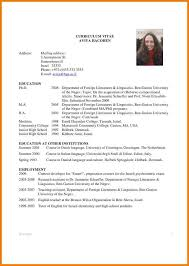 sample academic cv graduate student   appeal letters sampleexample academic cv template   free resume templates