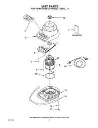 Appliance Parts Pros 01Unit Parts For KitchenAid Blender KSB5OB4  From  AppliancePartsProscom