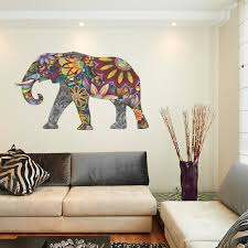 beautiful idea elephant wall art home decor ideas abstract full colour sticker decal vinyl mural large