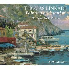 kinkade painting on location 2019 wall calendar