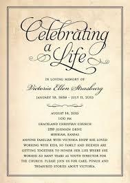 Memorial Service Invitation Template Unique 48 Lovely Celebration Of Life Invitation Template Inspiration