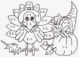 turkey multiplication coloring page