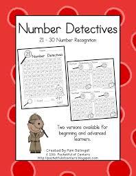Number Detectives 21-30 Number Recognition $3.00   KindergartenKlub ...