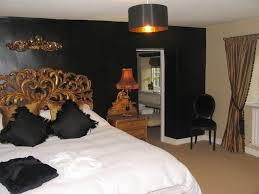 Black And Gold Bedroom Decor Interior Ideas Teen Glam Wall ...