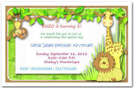 Jungle Theme Birthday Invitations Free Printable Safari Birthday Invitations Jungle Theme