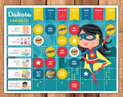 Superhero Girl Reward Chart