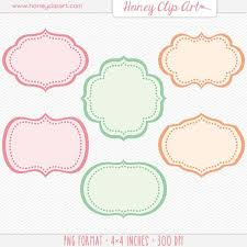 printable bracket frame. Pink, Peach, And Mint Label Clip Art With Retro Dotted Borders. These Digital · Printable FramesDigital Bracket Frame