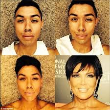 well the tan is about right another user sends up the look of kris jenner