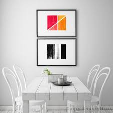 red yellow abstract art print abstract color planes red and yellow fine art giclee print of original ink drawing wall art modern art on color planes wall art with red yellow abstract art print abstract color planes red and
