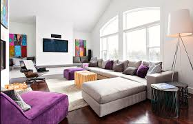 Purple And Grey Living Room Decorating Purple And Grey Modern Decor Family Room Just Decorate