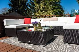 patio furniture reviews. Gorgeous Inspiration Outsunny Patio Furniture Charming Design 7pc Outdoor Wicker Rattan Sectional Sofa Reviews A