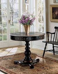 image of modern round foyer table small half