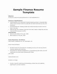 Financial Resumes Examples Finance Resume Template Elegant Financial Analyst Resume Sample 17