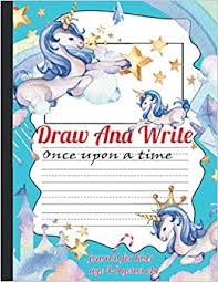 Choose a drawing to print it and draws on dotted lines to reveal magnificent drawings in which you can colour. Draw And Write Paper For Kids Dotted Lined Journal Notebook Make A Story Writing Handwriting Practice For Homeschooling 100 Pages Journal For High Quality Unicorn Rainbow