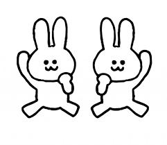 ガッツポーズするウサギのイラスト 無料イラスト素材素材ラボ