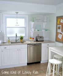 Small White Kitchen Kitchen All White Kitchen Minimalist White Floating Cabinets In