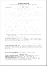 Database Developer Resume Template Best Systems Programmer Resume Software Programmer Resume Entry Level