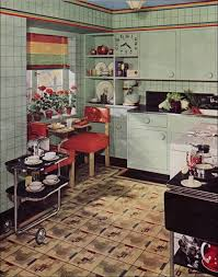 1939 armstrong kitchen in green