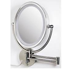 zedro double making special lighted wall mount mirror circle shapes two sided accessories