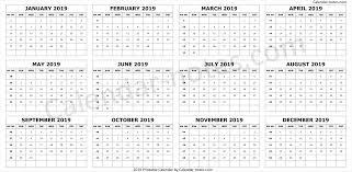 Week Number Calendar Calendar 2019 By Week Numbers Calendar 2019 To Print Week