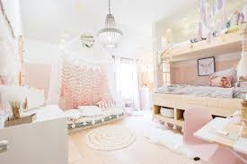 Boho girl's room in pink and white