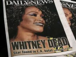 Image result for death of whitney houston