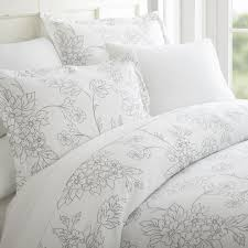becky cameron vine patterned performance gray king 3 piece duvet cover set ieh duv vi k gr the home depot